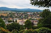 High angle view of small town in Austria — Stock Photo