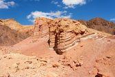 Scenic striped rocks in stone desert — Stock Photo