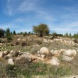 Rocky green hill by fisheye lens — Stock Photo #2501024