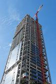 Skyscraper construction site — Stock Photo