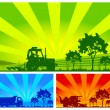 Agricultural machinery - Stockvectorbeeld