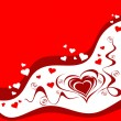 Valentine greeting card with heart — Imagen vectorial