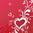 Valentine greeting card with heart — Image vectorielle