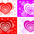 Pattern of card with heart - Stock Vector