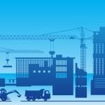 Construction of a factory — Stock Vector #1240886