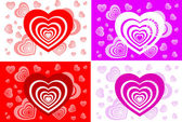Pattern of card with heart — Stock Vector