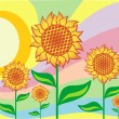 Sunflowers - Stock Vector