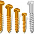 Different size screws — Stock Vector #1286296