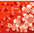 Royalty-Free Stock Vector Image: Red flower background