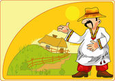如诗如画的农民 — 图库矢量图片
