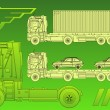Stock Vector: Trailer in green