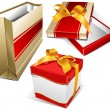 Royalty-Free Stock Vector Image: Package and two box