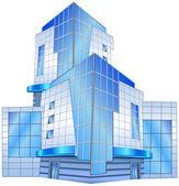 Edificio de oficinas — Vector de stock