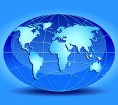 Modelo del globo — Vector de stock