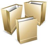 Paquets de papier de denrée alimentaire — Vecteur