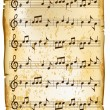 Old music sheet — Vettoriali Stock