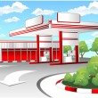 Vector de stock : Red refuel station