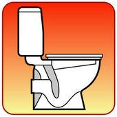 Toilet bowl — Stock Vector