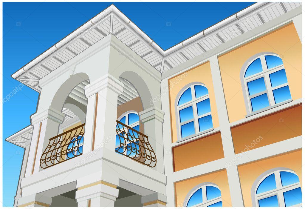 Balcony stock vector creator76 1379797 for Balcony vector