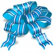 Blue bow - Stock Vector