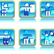 Royalty-Free Stock Vector Image: Icons in blue