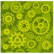 Gears in green — Stock Vector