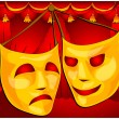 Theatre masks — Stock Vector #1445652