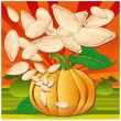 Royalty-Free Stock Vector Image: Pumpkin with leaves