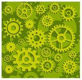 Gears in green — Stock Vector