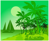 Palm green — Stock Vector