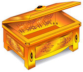 Gold antique chest — Stock Vector