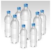 Plastic bottles — Stock Vector