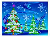 Christmas tree — Stock vektor