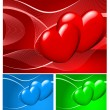 Three-colored valentine background — Stock Vector #1450317