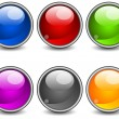 Aqua buttons - Stock Vector