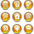 Stock Vector: Icons in yellow