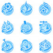 Royalty-Free Stock Vector Image: Environmental icons in blue