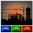 Construction of a factory — Stock Vector
