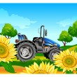 Royalty-Free Stock Vector Image: Tractor on field
