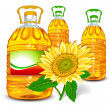 sunflower oil — Stock Vector