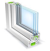 Profil okienny — Wektor stockowy