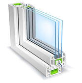 Window profile — Stockvector