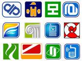 Set van abstracte pictogrammen — Stockvector