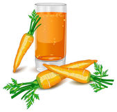 Carrots juice — Stock Vector