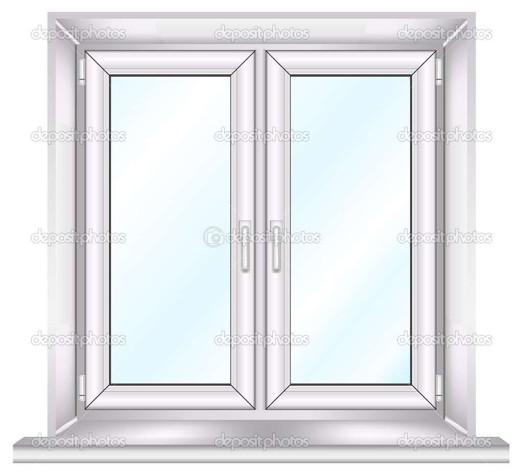 Plastic window stock vector creator76 1451995 for Window plastic