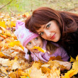 Mother and daughter in a park - Stock Photo