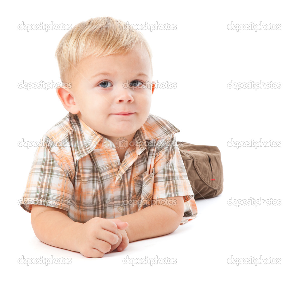 Happy child. Isolated on the white background — Stock Photo #1238847
