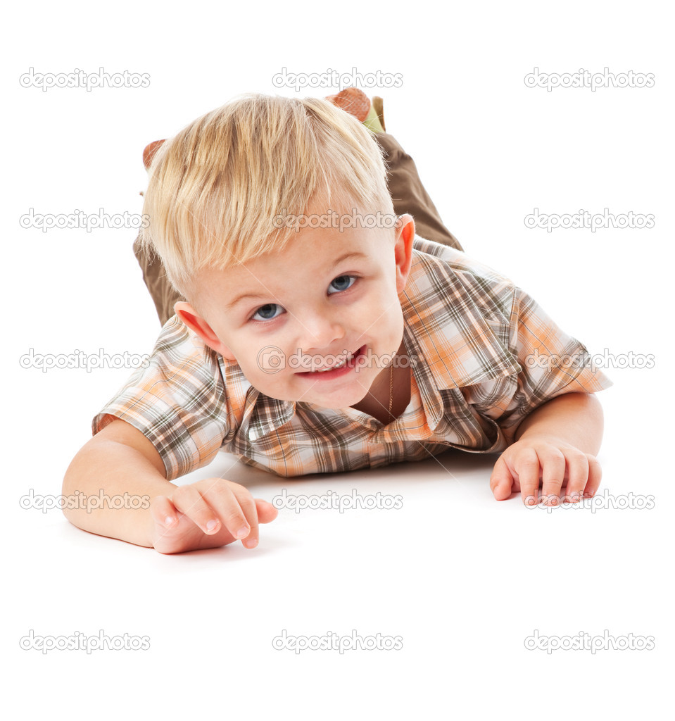 Happy child. Isolated on the white background — Stock Photo #1238875