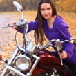 Beautiful female biker — Stock Photo #1250274