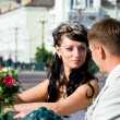 Stock Photo: Bride and bridegroom
